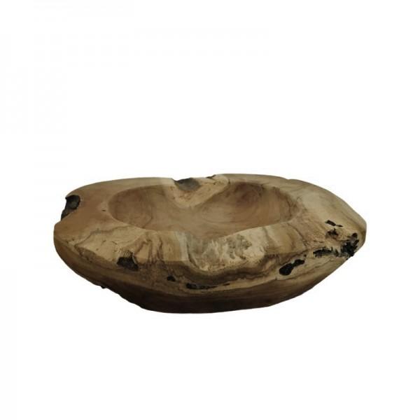 Holz Schale Rustikal Tisch Deko Natürlich Rund 20 cm