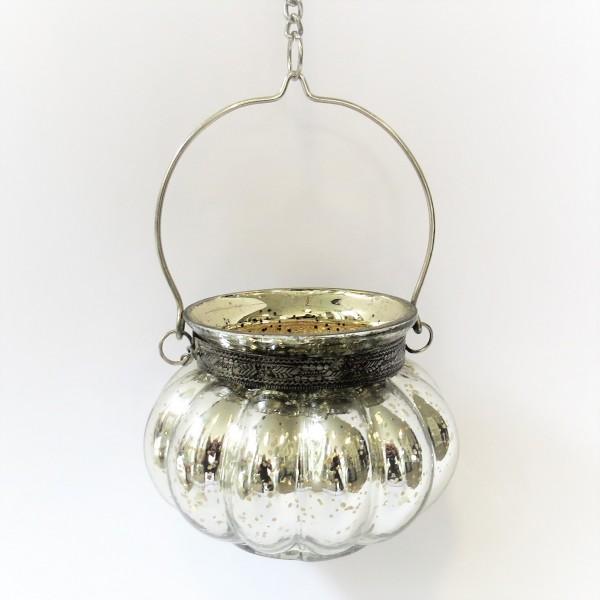 Hängewindlicht Teelichthalter Deko Hänger Silber Gold Cor Mulder 55 cm