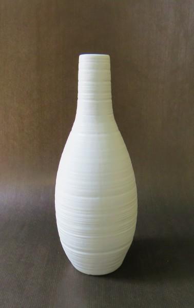 Vase Blumenvase Keramik weiß Hamilton 26 cm