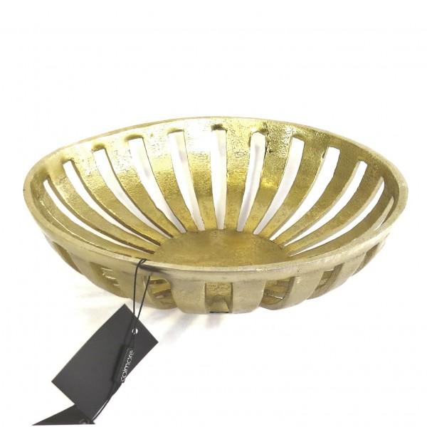 Schale Deko Gold Metall Tisch Colmore Mittelgroß 30 x30 x 10 cm