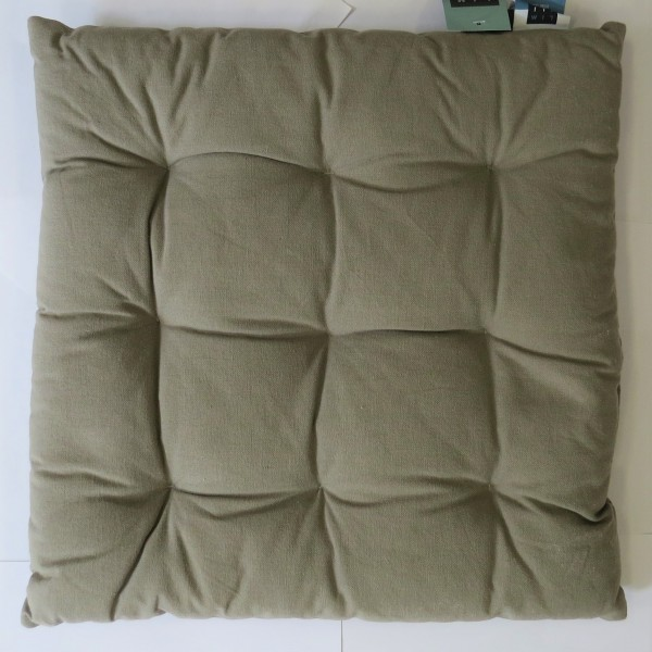 Sitzkissen Kissen khaki erdfarben Baumwolle gesteppt Lime Light 40 x 40 x 5 cm