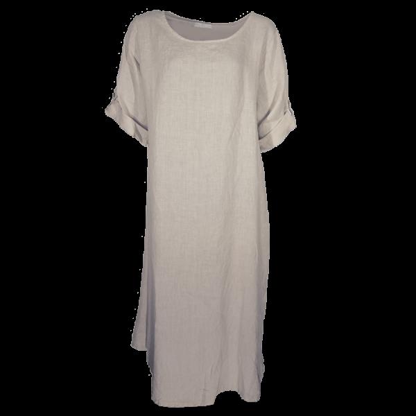 Kleid Tunika Beige Leinen Größe XL - XXL