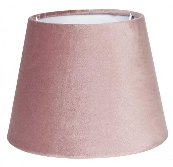 Lampenschirm Rosa Samt Modern Clayre & Eef E27 25x18 cm