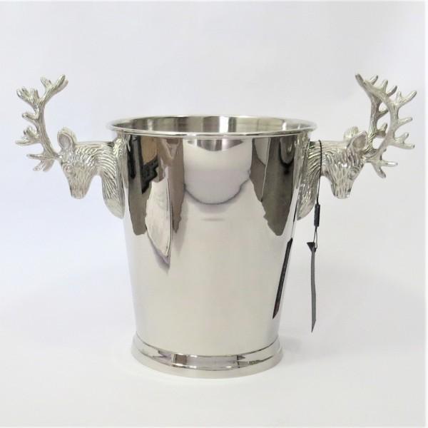 Sektkühler Champagnekühler Weinkühler Eiseimer Colmore Hirschkopf 41 x 22 x 33 cm