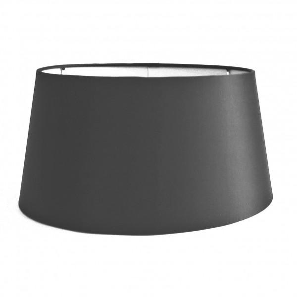 Lampenschirm Schwarz Modern Halbhoch 30x25x15 cm E27 Colmore Seidenmatt