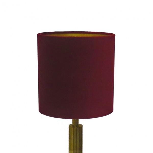 Lampenschirm Leuchtenschirm Bordeauxrot Samt Zylinder Colmore 20 x 20 x 20 cm E27