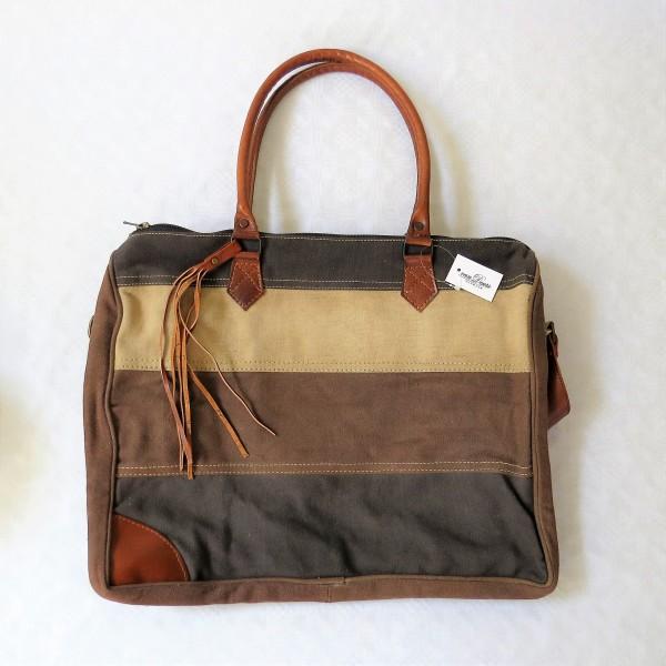 Tasche Damentasche Shopper schwarz braun beige Van deurs 40 x 34 cm