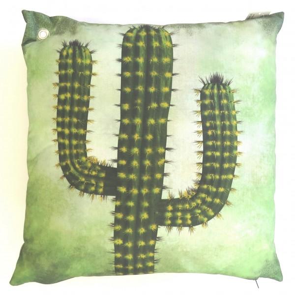 Kissen In & Outdoor Grün Kaktus Modern Garten Deko Zierkissen 45 x 45 cm