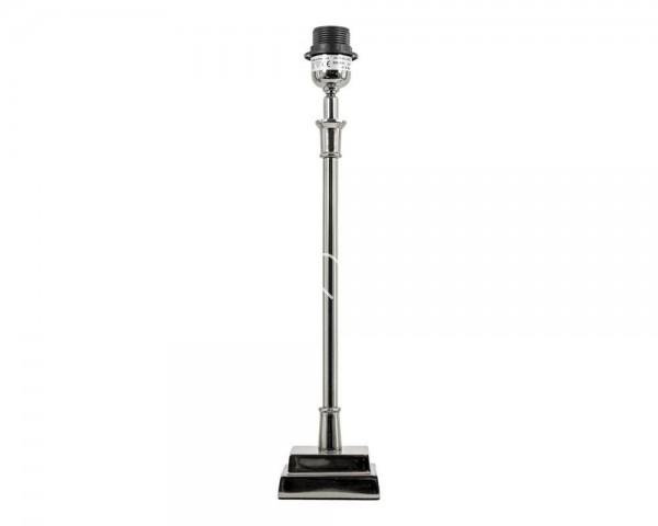 Lampenfuß Lampe silber Metall 10 x 48 cm Colmore 211-15-026-L E27 40 Watt
