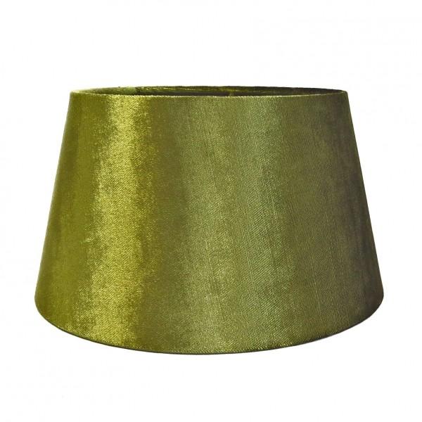 Lampenschirm Tisch Grün Moos Samt Stoff Metallic Halbhoch Colmore E27 Mittelgroß