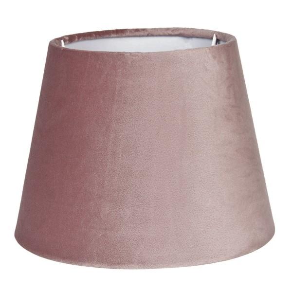 Lampenschirm Altrosa Samt Modern Tischlampenschirm Colmore E27