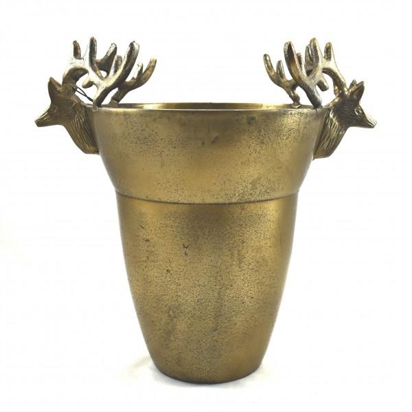 Vase Hirsch Deko Metall Gold Colmore Rustikal 33 cm
