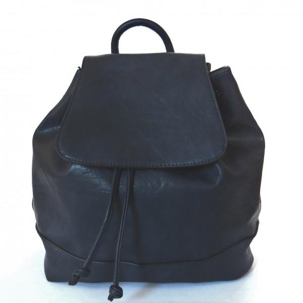 Rucksack Tasche Blau Kunstleder Modern Qischa Mittelgroß 30x30 cm