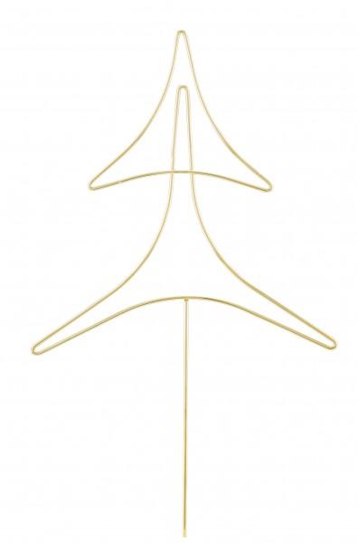 Deko Tannenbaum Stecker Metall Gold 43 cm Weihnachtsbaum Weihnachten Modern