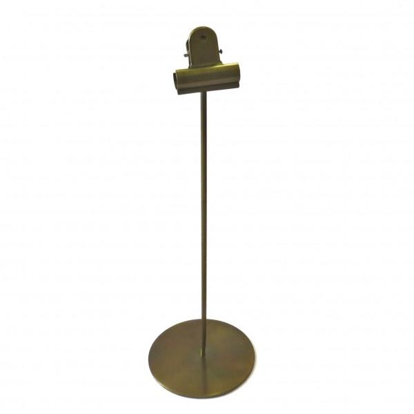 Fotohalter Bilderhalter mit Clip Metall Modern Deko Gold Tisch 34 cm