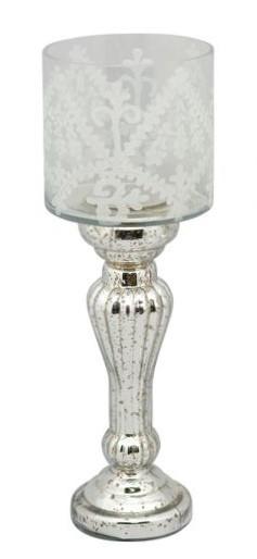 Kerzenständer Windlicht Teelicht Antik Shabby Stil XL Exner GmbH Iride 44 cm