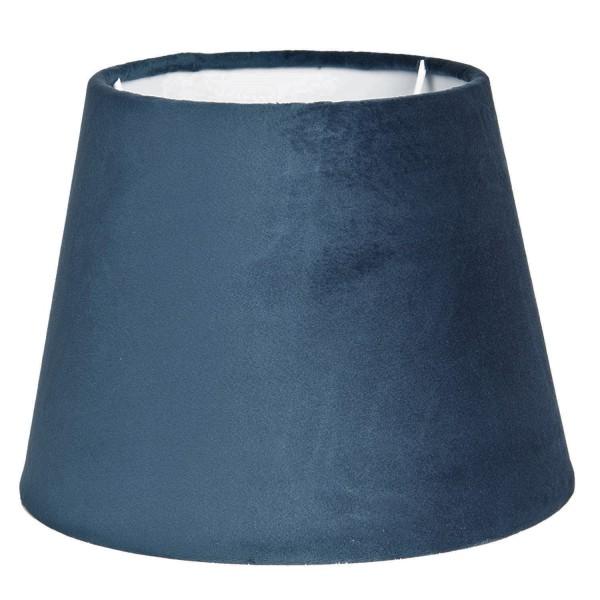 Lampenschirm Stehlampenschirm Blau Samt Modern Clayre & Eef E27 30x22 cm