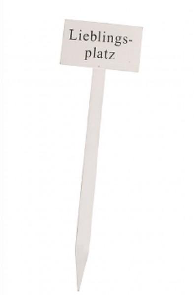 Gartenstecker Weiß Holz Shabby Garten Deko Lieblingsplatz 60 cm