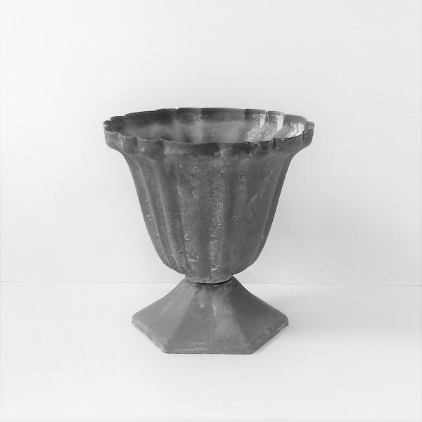 Blumentopf Dekotopf Übertopf Metall Antik Shabby 10,5 x 10 cm