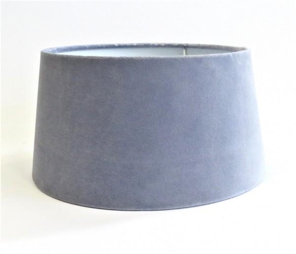 Lampenschirm Halbhoch Hellblau Samt Modern Colmore Lavendel E27