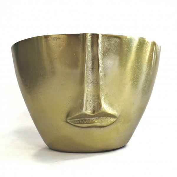 Vase Gold Modern Gesicht Tisch Oval Deko Colmore 27 cm