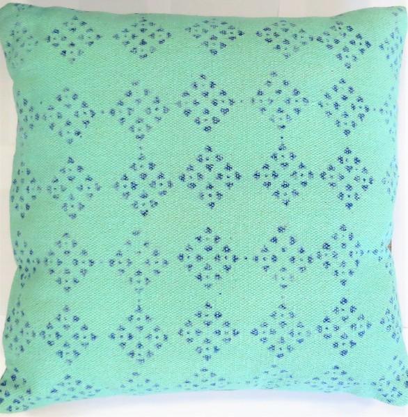 Light & Living Kissen Dekokissen Hippie türkis blau Muster Reißverschluss 50*50 cm Baumwolle
