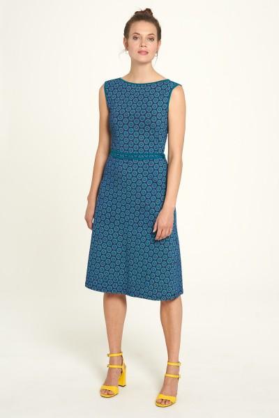 Kleid Midi Sommer Flower Prints Bio Baumwolle Mode Ärmellos Tranquillo XS 34