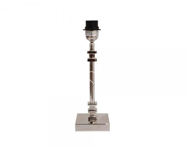 Lampe Lampenfuß Tisch Modern Silber Metall Quadratisch Colmore E27