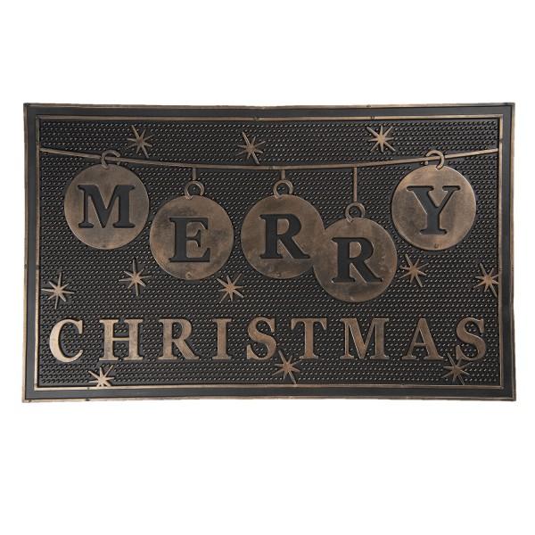 Matte Fuß Tür Eingang Abstreifer Weihnachten Motiv Schwarz Modern Clayre & Eef