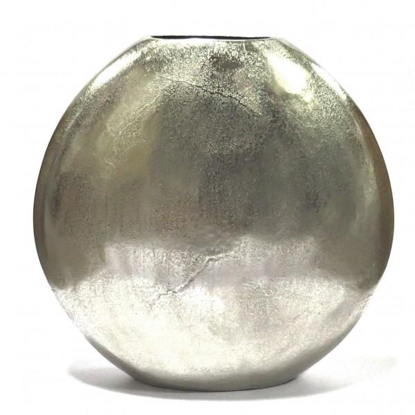 Bodenvase Vase Deko Rund Schmal Modern Silber Metall Colmore 51 cm