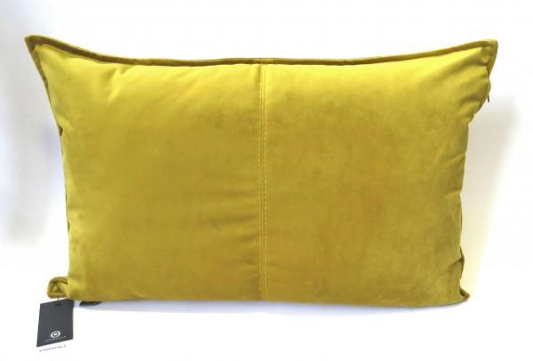 Kissen Sofa Rechteckig Samt Ocker Geb 40 x 60 cm