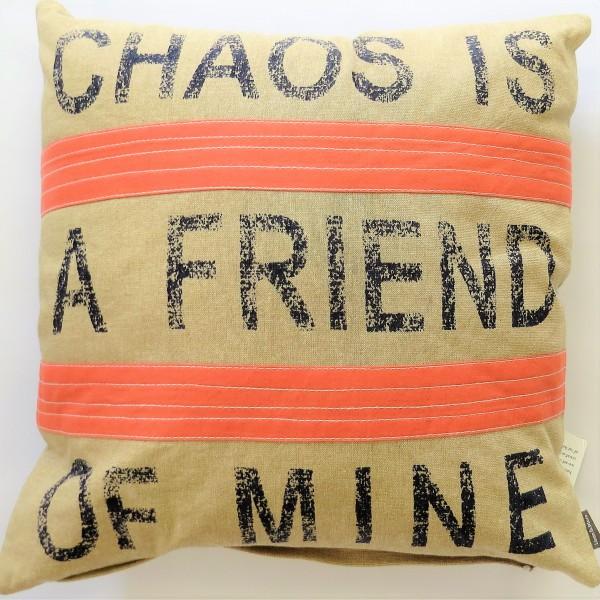 Kissen Zier Sofa Deko Chaos is a Friend of Mine beige rosa Linen & More
