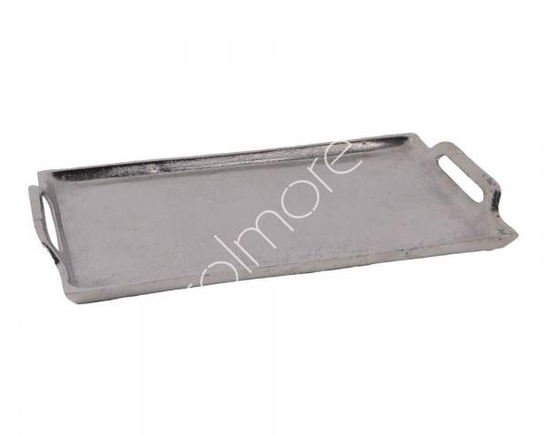 Tablett Untersetzer Schale Teller Platte Kerzen Deko Silber Metall Modern Tisch Colmore