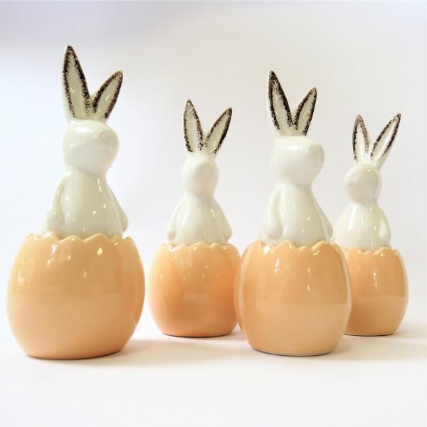 Osterhasen Osterdeko Ostern Hasen 4er Set Keramik 18,5 cm