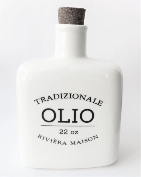 Riviera Maison Olivenölflasche Menage Olivenölmenage Porzellan weiß