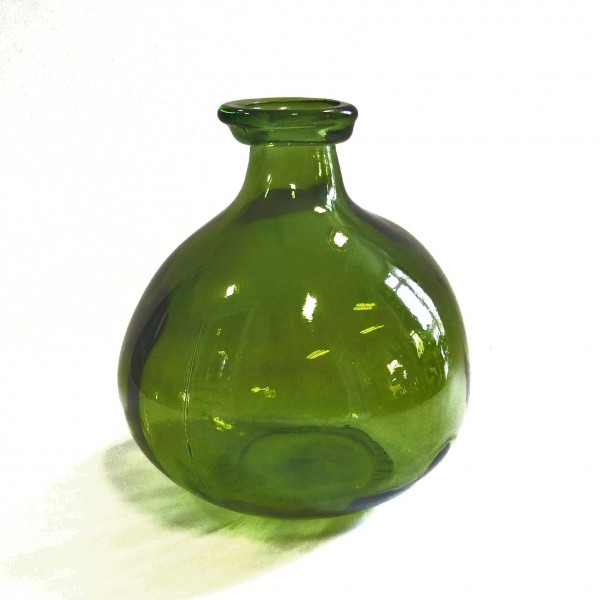 Vase Glas Bauchig Grün Modern Light & Living 16x18 Asymmetrisch
