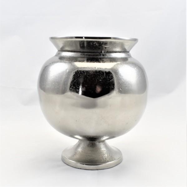 Vase Dekovase silber rund Colmore 15 x 17 cm 001-18-2682-L