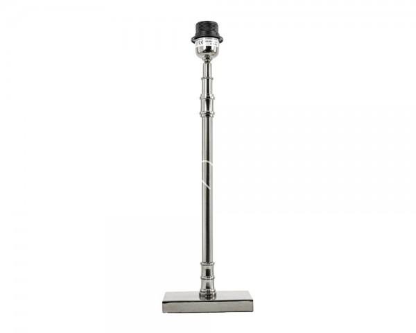 Lampe Tischlampe Leuchte Lampenfuß Modern Silber Metall Colmore 15 x 10 x 38 cm E27
