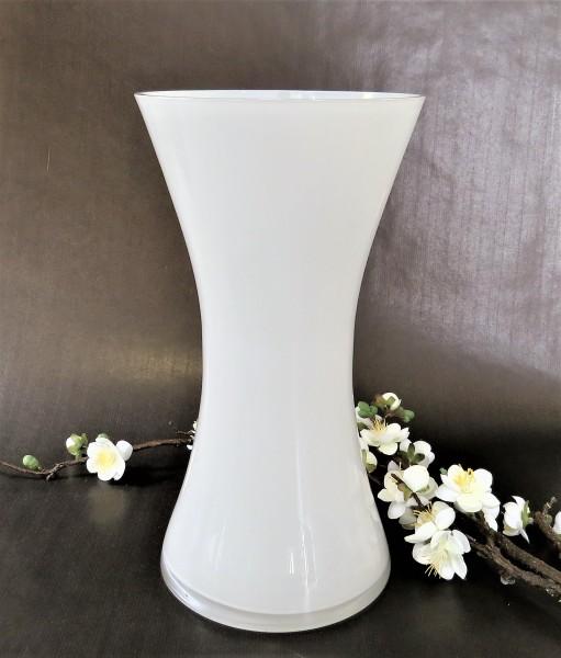 Vase Blumenvase weiß Glas 31 cm