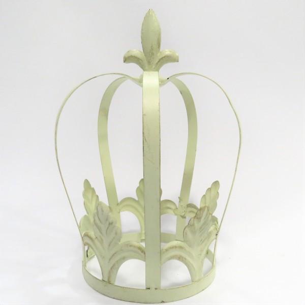 Metallkrone Krone Eisen Krone Shabby beige 31 x 21 cm