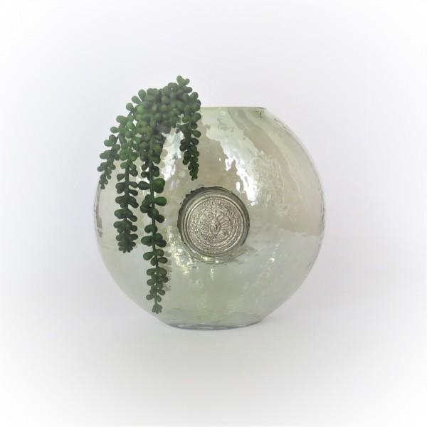 Vase Glasvase Dekovase Modern Rund Grün Colmore 24 x 14 x 23 cm