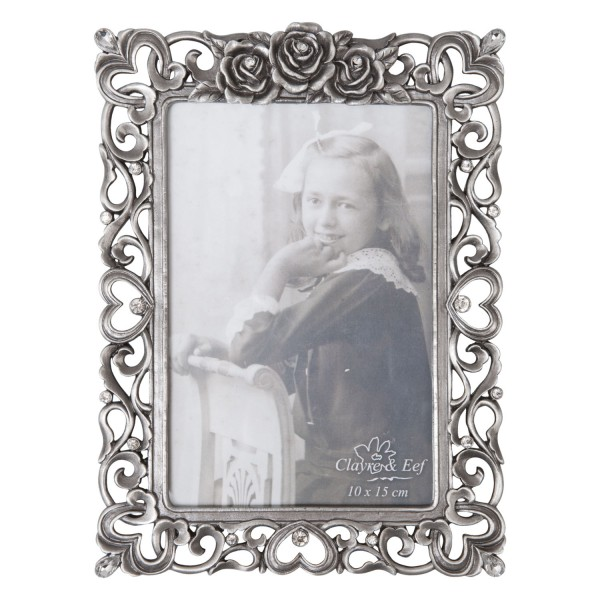 Fotorahmen Bilderrahmen Fotoständer Antik Silber Metall Clayre & Eef