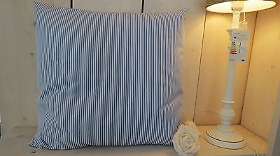 Dekokissen Maritim blau weiß gestreift 50 x 45 cm