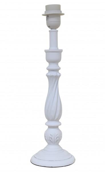 Lampe Lampenfuß Shabby Weiß Holz Landhaus E27 11 x 40,5 cm