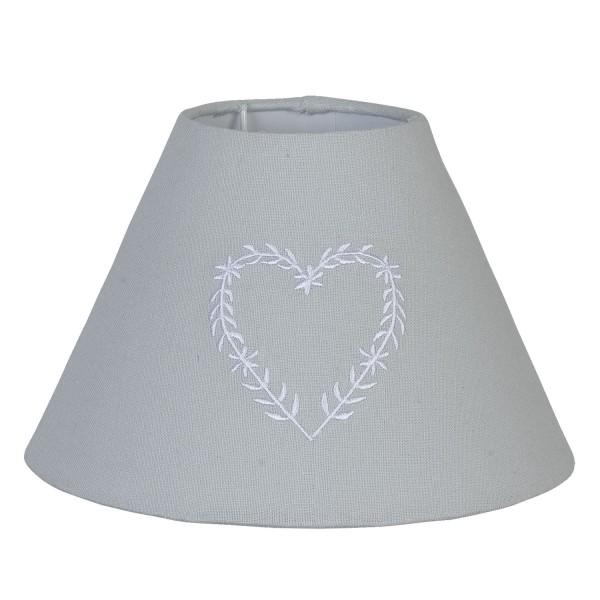 Lampenschirm Tischlampenschirm Clayre & Eef E27 6LAK0004 hellblau Herz