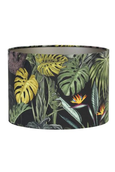 Lampenschirm Dschungel Botanik Bunt RICA Samt Modern E27 Light & Living 30x30x21 cm