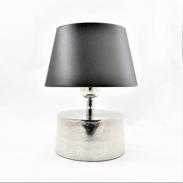 Lampe Tischlampe Nachttischlampe grau silber Colmore 16 x 27 cm