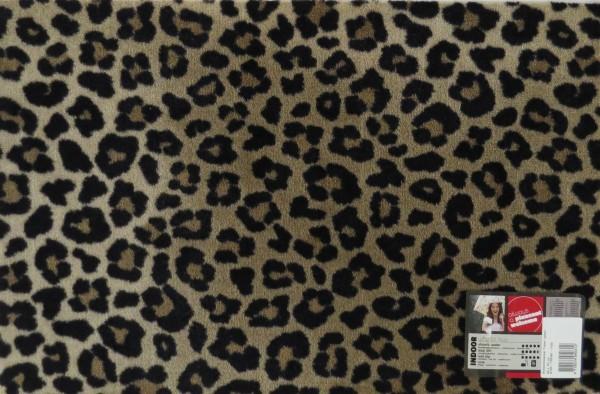 Fußmatte Türmatte Eingang Matte Leoparden Optik Stoff Gummi 50 x 75 cm