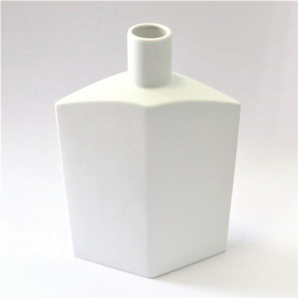Vase Weiß Keramik Modernes Design Bob 43 cm