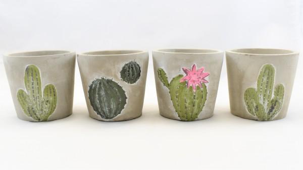 4 bert pfe topf tontopf blumentopf grau 11 x 11 x 10 cm herzen vasen allerlei. Black Bedroom Furniture Sets. Home Design Ideas